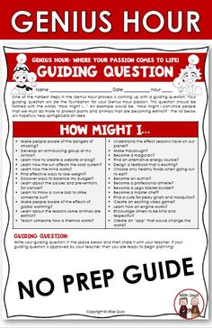 This is a comprehensive unit on how to implement Genius Hour into your 4th grade, 5th grade and middle school classroom. Genius Hour is a time set aside during the school day for students to research something they are passionate about. Genius Hour will engage your students like no other project. This passion project is great for students in grade three, grade four and grade five! 4th Grade Classroom, Middle School Classroom, Teaching Strategies, Teaching Tips, Genius Hour, Passion Project, Upper Elementary, School Days, Third Grade