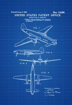 1939 Lockheed Airplane Patent - Vintage Airplane Airplane Blueprint Airplane Art Pilot Gift  Aircraft Decor Airplane Poster by PatentsAsPrints