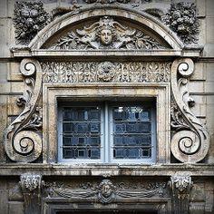 Elaborate window, Hotel de Sully, Paris.