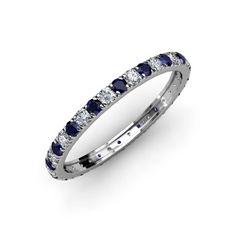Blue Sapphire and Diamond French Set Eternity Band 1.05ct... http://www.amazon.com/dp/B00BHDBT40/ref=cm_sw_r_pi_dp_aLtgxb09PDKX5