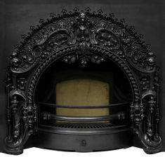 UKAA buy and sell New Carron Victorian Rococo Black Finish Cast Iron Fireplace Inserts online and for sale in our architectural salvage and reclamation yard in cannock wood staffordshire. Cast Iron Fireplace Insert, Fireplace Inserts, Fireplace Mantle, Fireplace Surrounds, Fireplace Design, Gothic Interior, Gothic Home Decor, Rococo, Baroque