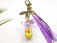 porte clés fiole salade de fruits en fimo fraise citron orange tong vitamine vacances : Porte clés par kintcreations