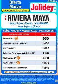 Oferta Riviera Maya MARZO desde 950€, salidas Lunes y Viernes desde Madrid ultimo minuto - http://zocotours.com/oferta-riviera-maya-marzo-desde-950e-salidas-lunes-y-viernes-desde-madrid-ultimo-minuto-3/