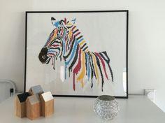 Perlebillede zebra