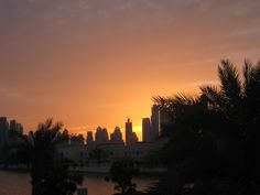 Dubai - My View now! Dubai, Celestial, Sunset, Places, Outdoor, Sunsets, Outdoors, Lugares, The Great Outdoors