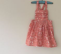 Girls Pinafore Dress 12m to 5T made to order by CottontailNZ