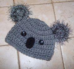 SOOO CUTE Newborn Baby Boy Crochet Koala Hat  by jerribeccahats, $12.99