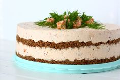 Ihana lohijuustokakku - Suklaapossu Salty Cake, Let Them Eat Cake, Vanilla Cake, Cheesecake, Pie, Sweets, Baking, Desserts, Food