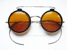 Unique Sunglasses, Steampunk Eyewear - Clip on Sunglasses