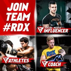 We're building Teams! If you're a professional fighter, body builder, cross-fitter, or a social media influencer and want to take it to the next level - we'd like to hear from you! Mail us at branding@RDXSports.com with your Name, Email Address, Sport (or line of work), and finally your Social-Media standing. While you're at it subscribe to our newsletter :D. RDXSports.com #RDXSports #TeamRDX