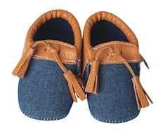 Tasseled Baby Moccasins with Soft Soles Lightweight Shoes for Infants Made From Vegan Leather Material Denim  Tan 69 M 4 18 IN By Lilac  Lavender ** For more information, visit image link. (This is an affiliate link) #BabyGirlShoes