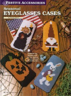 fb66b9b4b296 SEASONAL EYEGLASS CASES by MICHELE WILCOX 1 3 · Glasses CaseEye GlassesPlastic  Canvas PatternsPlastic ...