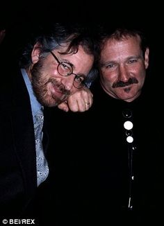 Old friends: Steven Spielberg is morning the loss of his pal, who he is pictured with in 1994. ~RIP~ Robin Williams