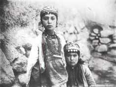Iran c 1900 Two girls. Antoin Sevruguin.