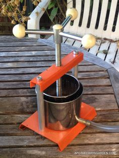A small Herb press. Handy for making extracts and tinctures.