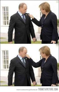 Why Russia hates Germany: Angela. Fucking. Merkel