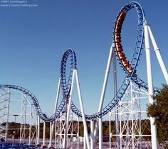Shockwave coaster with seven loops