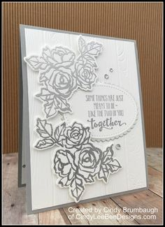 February 14, 2018 Happy Valentine's Day, friends! In the spirit of LOVE today, I have a wedding/anniversary card to show you using the SU Petal Palette Bundle. The Pinewood Planks dry embosse…