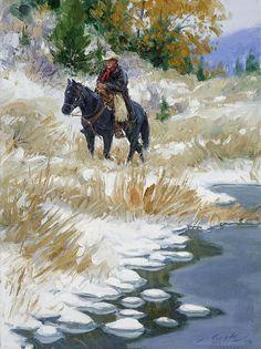 """A Cowboy's Work Is Never Done"" by Loren Entz www.lorenentz.com"