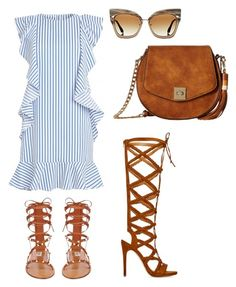 """Just Casual!!!"" by la-harrell-styling-co on Polyvore featuring Valentino, ShoeDazzle, Gabriella Rocha and Dita"