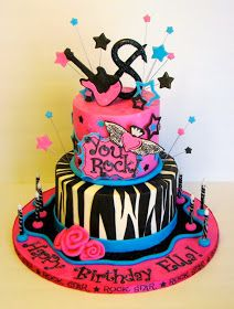 What do you get when you have a soon-to-be, daughter who loves music and ice skating? A rock star ice skating birth. Barbie Birthday Party, Birthday Cakes For Teens, Teen Birthday, Ice Skating Party, Skate Party, Frost, Cool Stuff, Desserts, Parties Kids