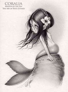 Coralia. Maiden of the Sea. Original artwork by raul-guerra.deviantart.com
