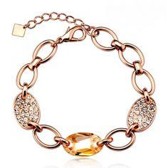 VIVILLI Cubic Zirconia Crystal Dark Khaki Bracelet