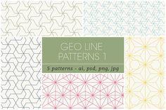 Geometric Line Patterns 1 by kloroform on @creativemarket