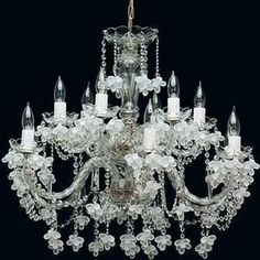 Tomia L 141/12/600 chrome Royal Family Flora Crystal 12-Light Chandelier
