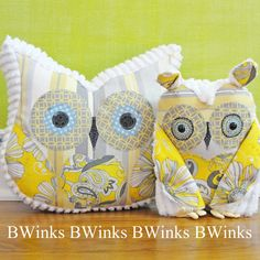 ~ So lovely ~ Owl Pillow Stuffed Owl Decor Pillow from BWinks etsy
