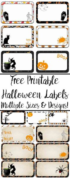 Multiple sizes x 3 x 1 and 3 x multiple designs. Great for labeling food, drinks, favors, etc. Halloween Names, Halloween Food For Party, Vintage Halloween, Halloween Crafts, Halloween Ideas, Halloween Letters, Preschool Halloween, Halloween Scrapbook, Halloween Birthday