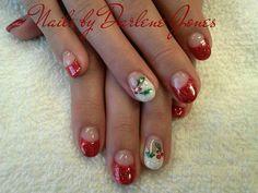 Christmas Holly nails by Darlene Jones