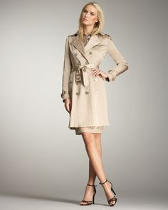 Burberry London Satin Trenchcoat $1 thestylecure.com