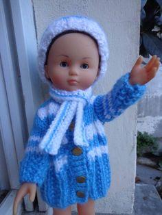 """Manteau bonnet et écharpe pour poupée Corolle """"les chéries"""" ou compatibles de 30 cm à 35 cm : Jeux, jouets par vetements-de-poupee-corolle-de-afc33"""