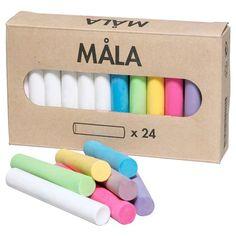 MALA tebeşir seti, çeşitli renkler | IKEA