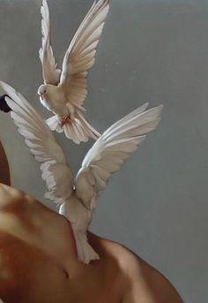 "angelihabitant: "" Roberto Ferri: ""Il Canto Della Vergine (The Song of the Virgin)"" (Detail), Oil on Canvas, 2015 "" Art Hoe, Renaissance Art, Belle Photo, Art Inspo, Art Reference, Art Photography, Illustration Art, Fine Art, Drawings"