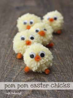Pom Pom Easter Chicks_consumer crafts