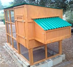 Chicken Coops. Predator protection at base.