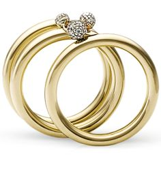Copernicus Collection. Ring polished yellow gold and noble gold with white diamonds by H.Stern.