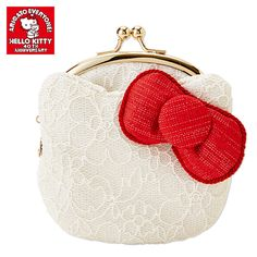 Hello Kitty Shaped 40th Anniversary Snap Closure Purse SANRIO Made in JAPAN