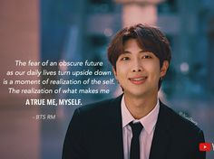 Quoted speech of BTS members.      #bts #rm #rapmonster #kimnamjoon #namjoon #namjoonbts #quotes Bts Lyrics Quotes, Bts Qoutes, Namjoon, Taehyung, Kpop, Bts Theory, Army Quotes, Bts Rap Monster, Bts Playlist