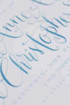 blue calligraphy - Christopher is such a gorgeous name and belongs to a GORGEOUS young man