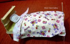 Mira's Talent Gallery @ My Hobby Lounge: Baby Doll Cot & Bed - Popsicle / Ice stick Craft
