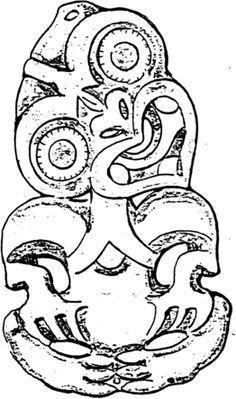 A Maori carving often made from greenstone & worn round the neck as a pendant.The tiki. Maori Tattoo Designs, Maori Tattoos, Warrior Tattoos, Marquesan Tattoos, Different Tattoos, Ink Wash, Baby Tattoos, Elephant Tattoos, Tattoos Gallery