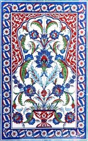 2x3pc hand painted traditional Turkish Tiles Ceramic Wall art with Iznik Designs