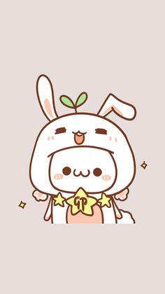 Cute Kawaii Animals, Cute Animal Drawings Kawaii, Cute Drawings, Wallpapers Kawaii, Cute Cartoon Wallpapers, K Wallpaper, Kawaii Wallpaper, Rabbit Wallpaper, Cute Backgrounds