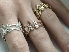 Cityscape Architecture Rings by Ola Shekhtman