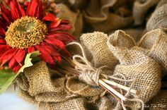 The Easiest Fall Burlap Wreath Tutorial - Duke Manor Farm