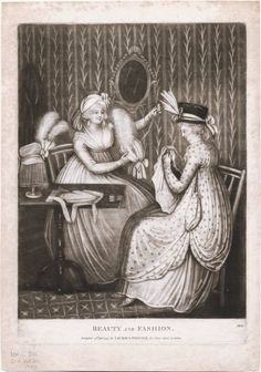 Beauty and Fashion, January 24th, 1797, Lewis Walpole Library Digital Collection
