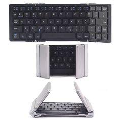 EC Technology faltbare Bluetooth Tastatur mit QWERTZ Tastaturlayout für Windows PC/ Tablet/ Smartphone
